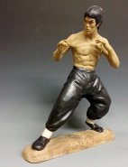 "14"" BRUCE LEE CHINESE KUNG FU FIGHTING MARTIAL ART CERAMIC STATUE"