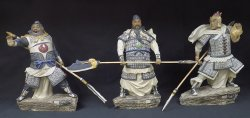 Limited Masterpiece Collection 3 Ceramic Figurine Statue Romanc Of Three Kingdom