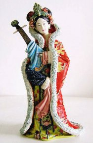 Song Dynasty Concubine - Shiwan Chinese Ceramic Lady Figurine